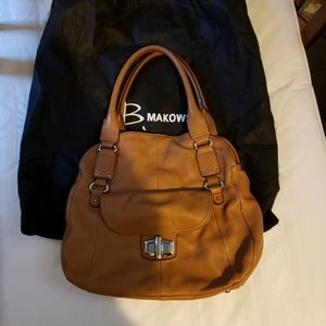B Makowsky Leather Purse with Dust Bag EEUC